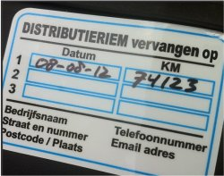 distributieriem sticker